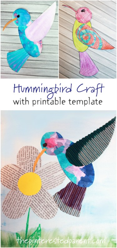 Hummingbird Craft With Printable The Pinterested Parent