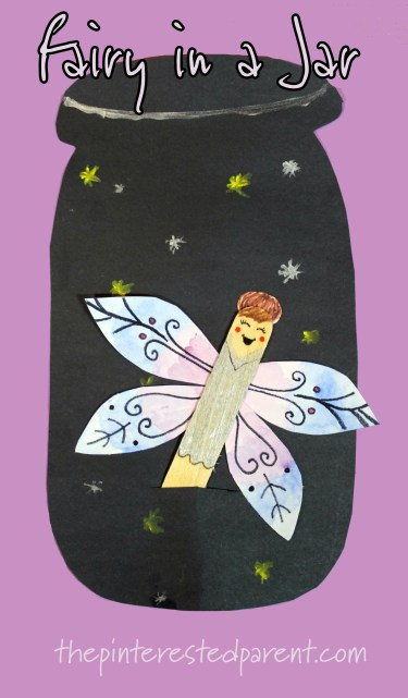 flying fairy in a jar craft - magical arts and crafts for kids. #interactive #fantasy #mythical