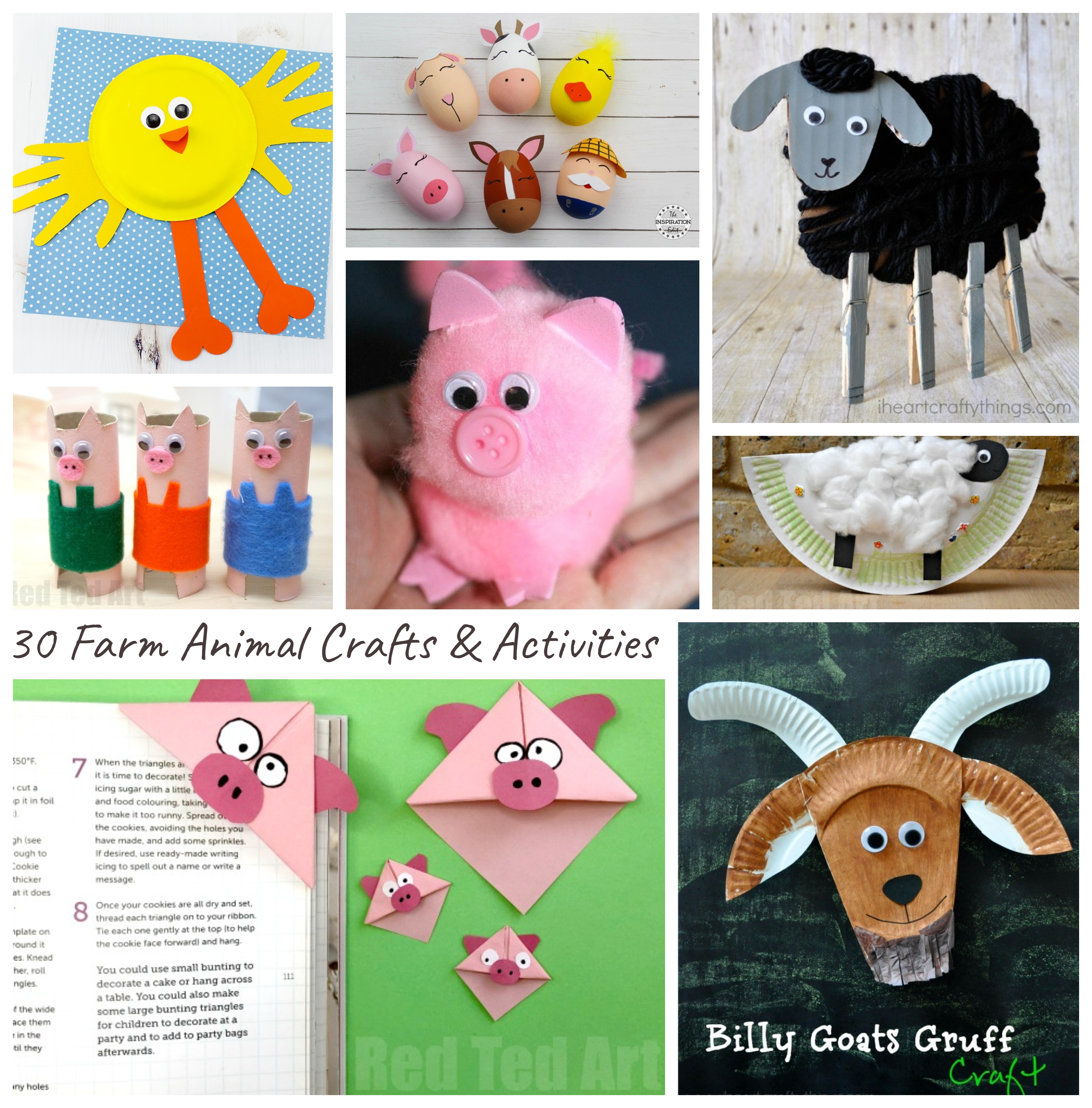 30 Farm Animal Crafts Activities The Pinterested Parent