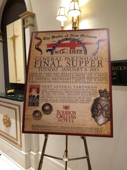 General Pakenham's Final Supper NOLA 4