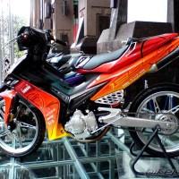 Modifikasi Yamaha Jupiter MX dual muffler keren abis!