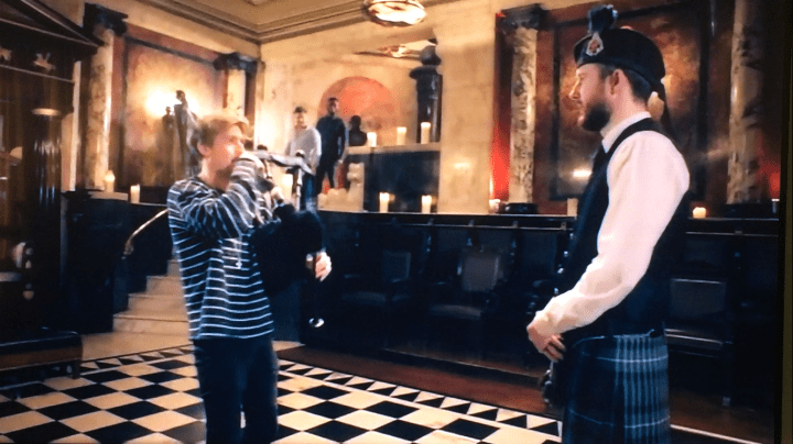 Image of Matthew McRae teaching a 'Made in Chelsea' cast member in London
