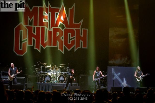 The Pit Magazine, Winsel Concertography, Metal Church, Dystopia World Tour 2016, Mid-America Center, Council Bluffs, Iowa