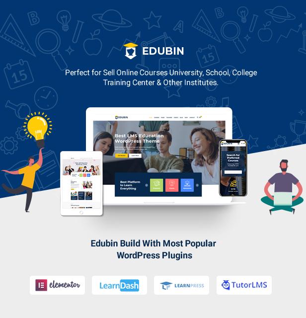 Education WordPress Theme Intro | Edubin