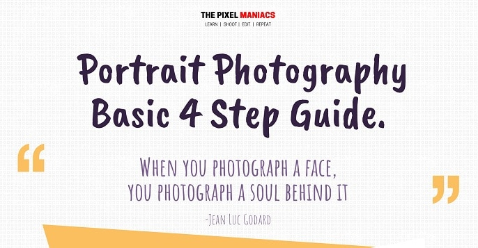 Portrait photography Basic 4 step guide Infographic jpg