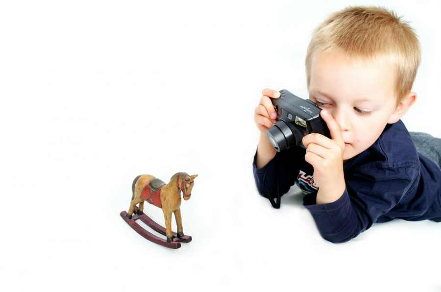 Kid Using Camera