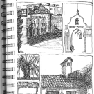 Pen Sketches of Buildings in La Jolla, CA