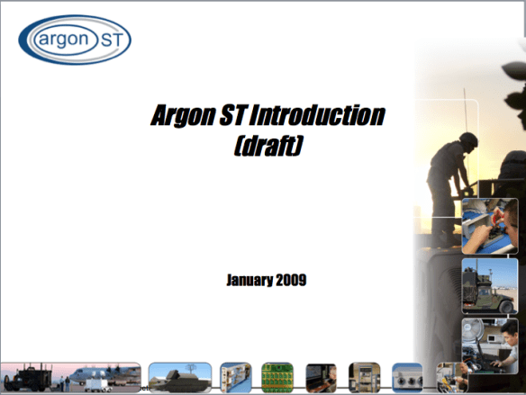 Argon ST PowerPoint briefing template