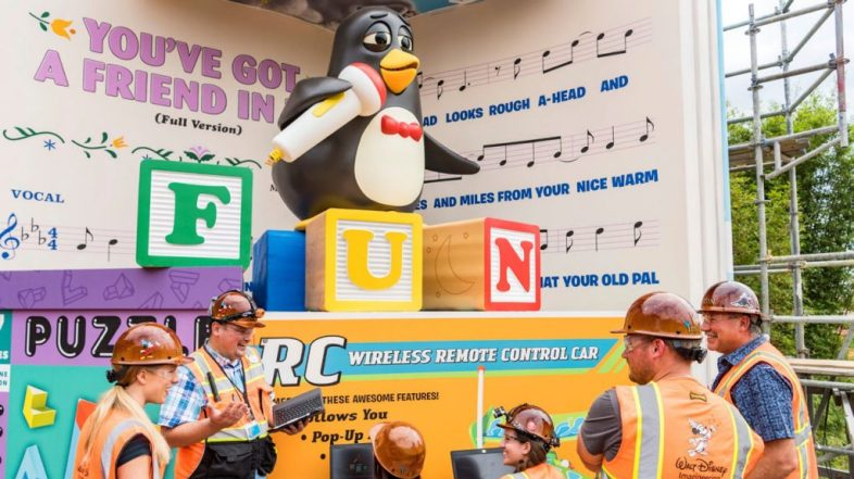 First Look Video of Wheezy in Toy Story Land