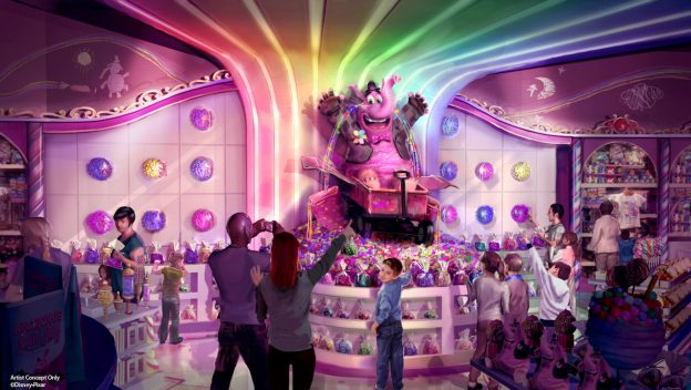 Sweet Candy Tears Coming to Bing Bong's Sweet Stuff on Pixar Pier
