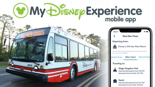 Bus Times at Walt Disney World Resort Now Available in My Disney Experience App