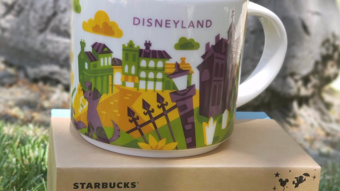 "Disneyland Gets New Starbucks ""You are Here"" Mugs Featuring Haunted Mansion"