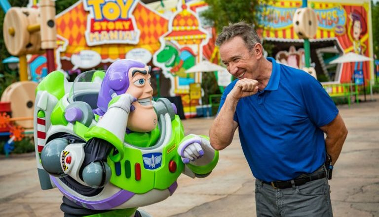 Video of Tim Allen in Toy Story Land