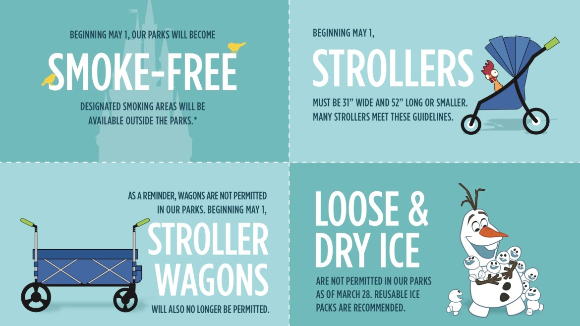 Breaking: Stroller Wagons and Smoking No Longer Allowed in the Parks
