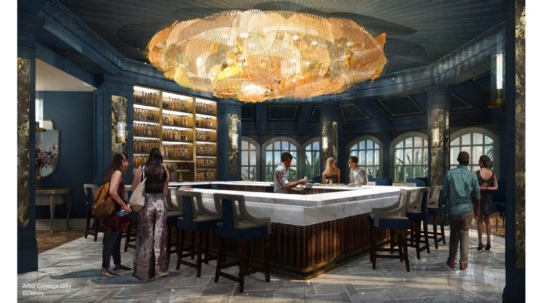 """New Lounge with """"Beauty and the Beast"""" Theming and Touches at Disney's Grand Floridian Coming Soon"""