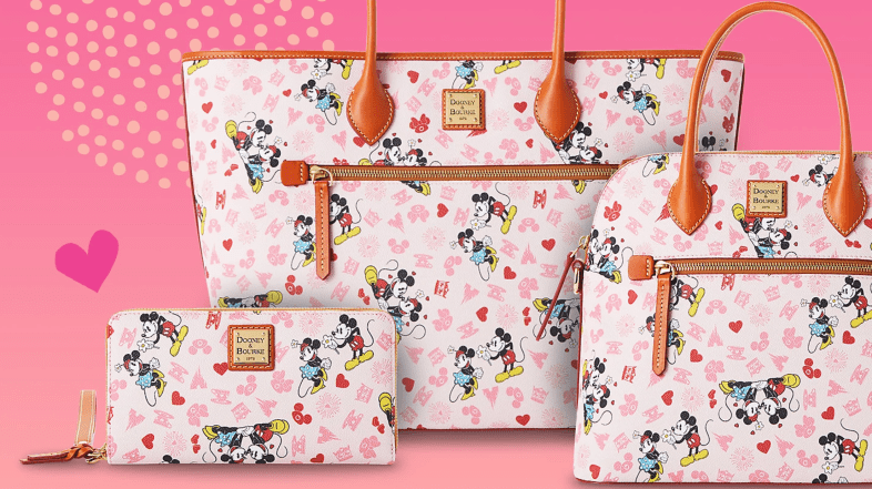 Sweetheart Dooney and Bourke with Mickey and Minnie for Valentine's Day