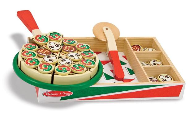 Pizza Party Wooden Play Food Set by Melissa & Doug