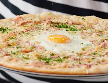 Carbonara Pizza Review, Carbonara Pizza from Pizza Express