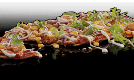 Tuna & Sweetcorn Flat Bread Pizza from Pizza Hut