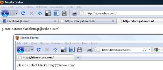 """please contact blacklistmgr@yahoo.com"""""""