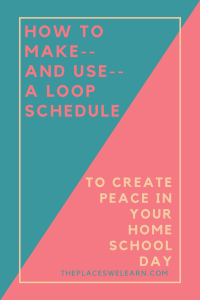 how to create and use a loop schedule the places we learn