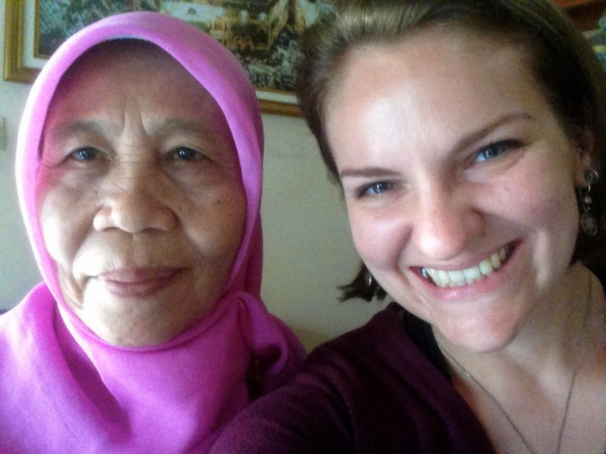My wonderful Ibu Haji Esin. I couldn't have done it without her.