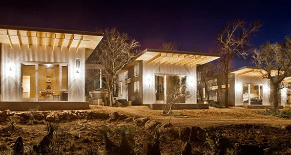 Best friends build a village of tiny houses in the middle