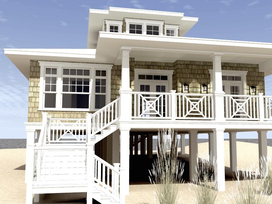 3 Bedrm, 2621 Sq Ft Beachfront House Plan #116-1003