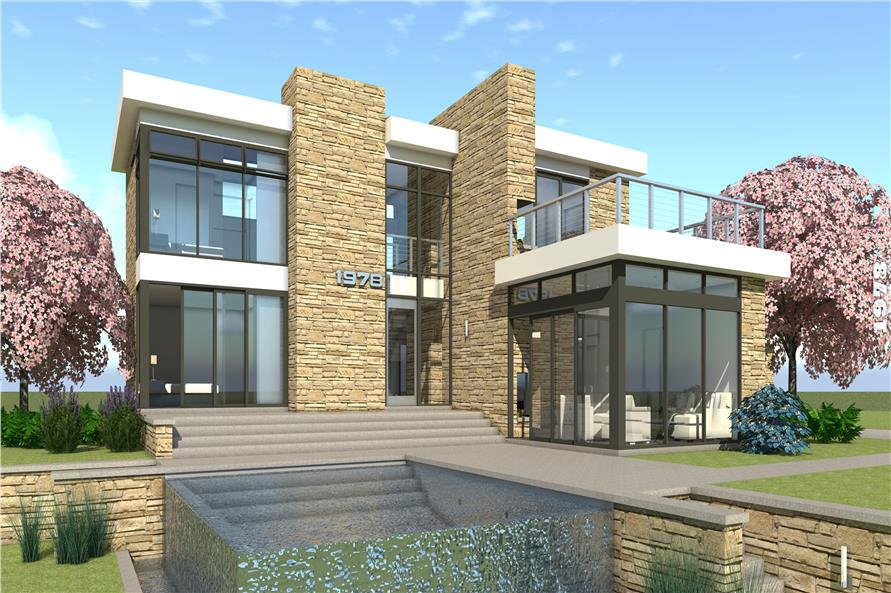 Modern House Plans: 3 Bedroom, 2269 Sq. Ft. Home Plan #116