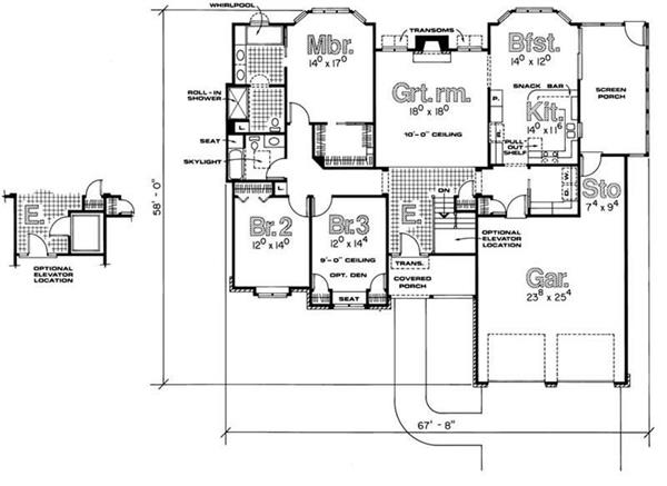 House Plan #120-1495 : 3 Bedroom, 2053 Sq Ft Ranch