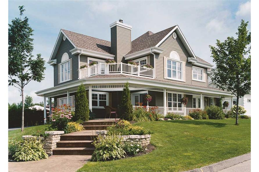 Traditional Country House Plan #126-1132: 4 Bdrm, 2528 Sq