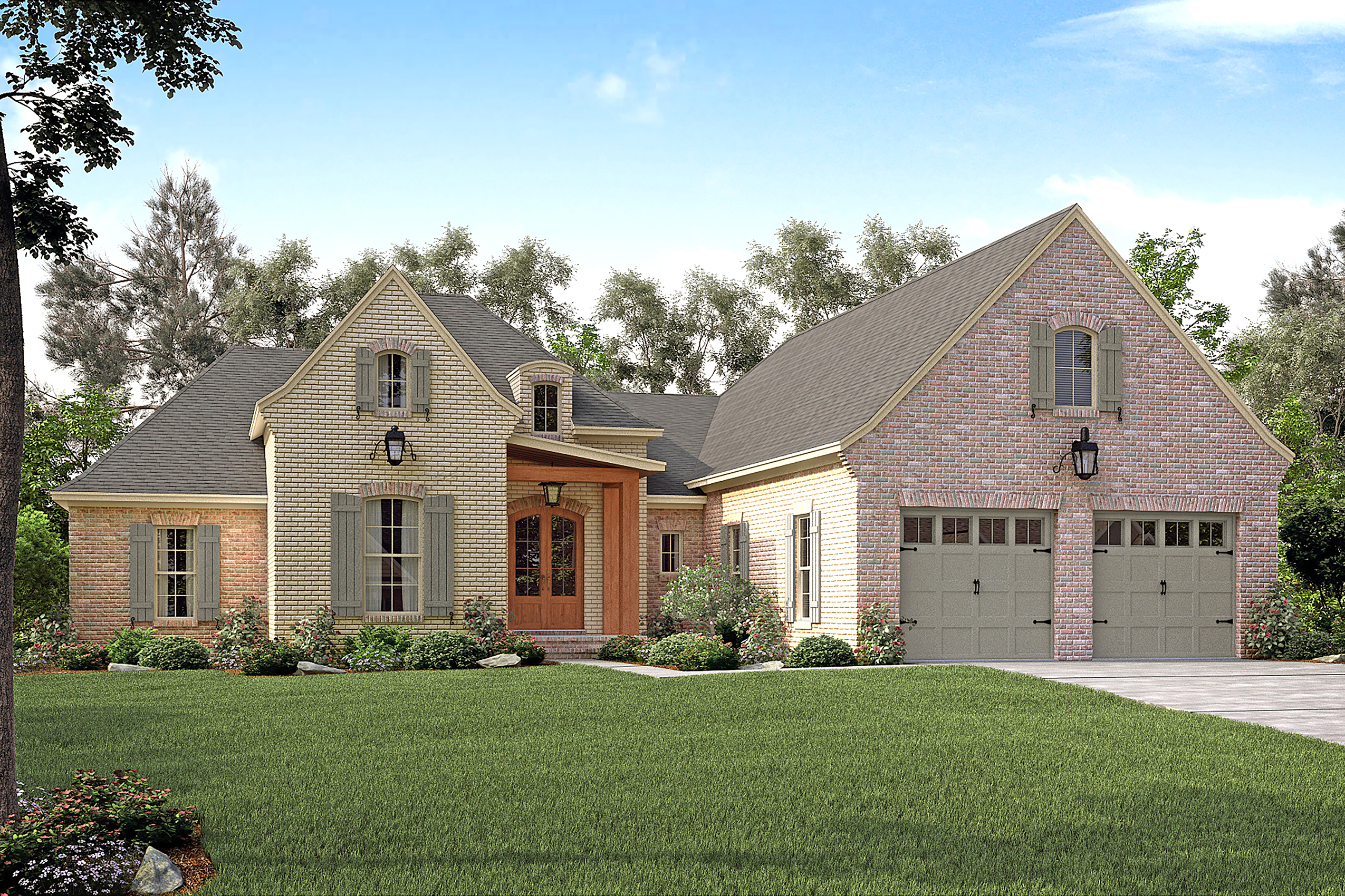 French House Plan #142-1149: 3 Bedrm, 2217 Sq Ft Home Plan
