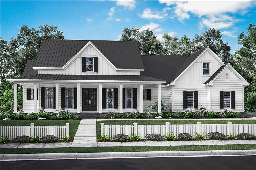 3 Bedrm, 2282 Sq Ft Traditional House Plan #142-1180