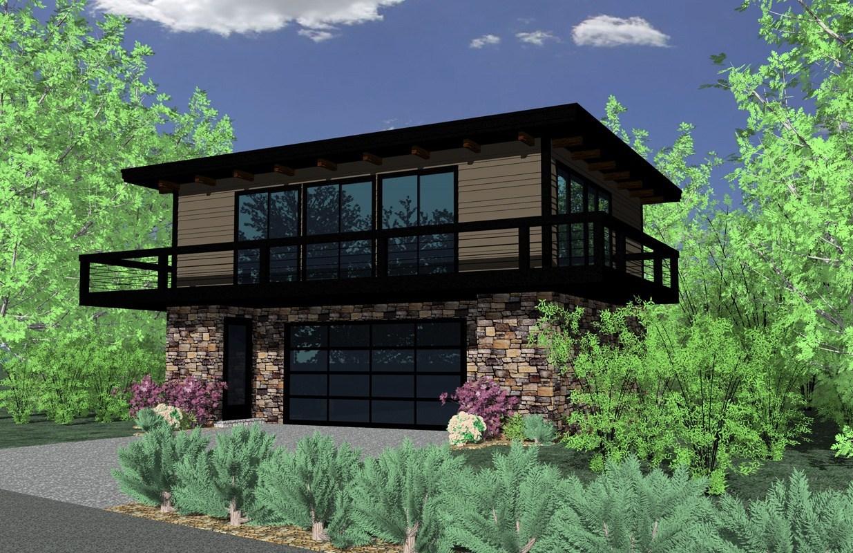 Modern House Plan #149-1839: 2 Bedrm, 1159 Sq Ft Home