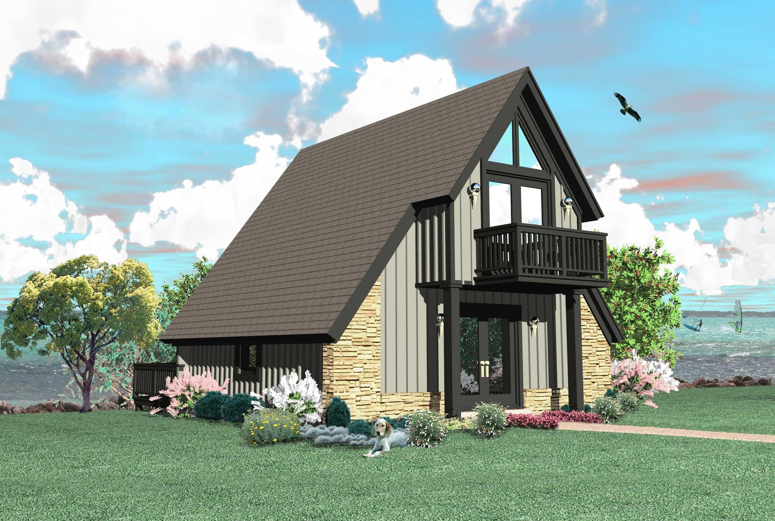 A Frame House Plan