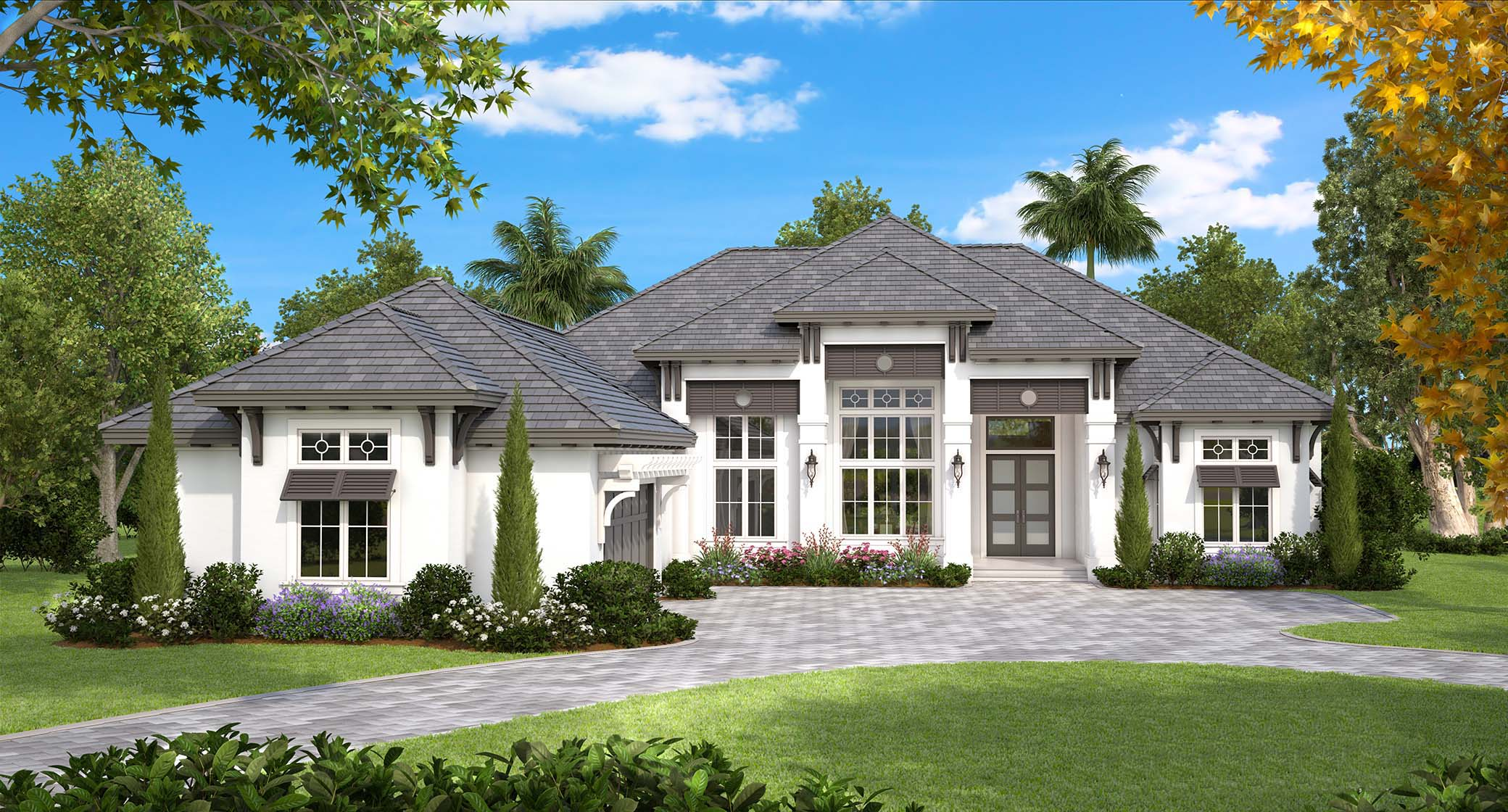Coastal European House Plan #175-1130: 4 Bedrm, 4089 Sq Ft