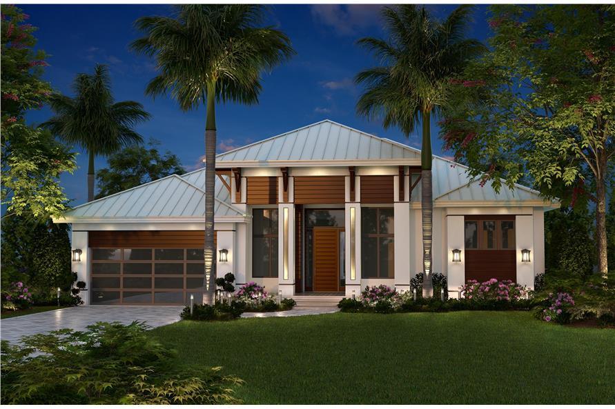 Contemporary House Plan #175-1134: 3 Bedrm, 2684 Sq Ft