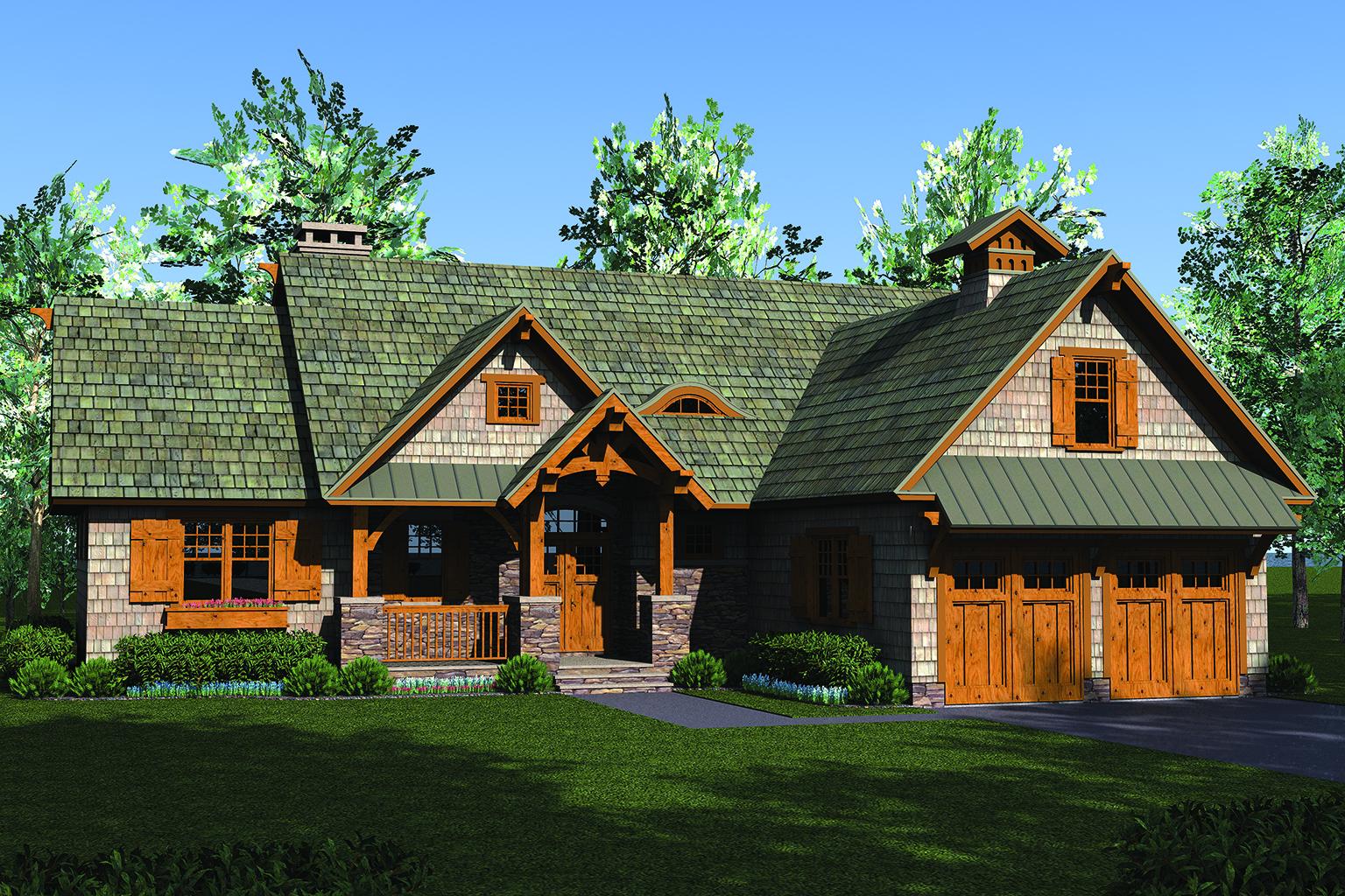 Craftsman House Plan #180-1049: 3 Bedrm, 2074 Sq Ft Home
