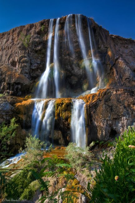 The Ma'In Hot Springs Waterfall, Jordan