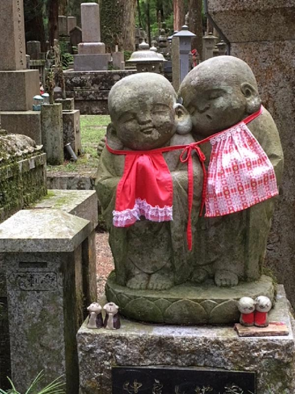 Okunoin Cemetery tour at night in Japan