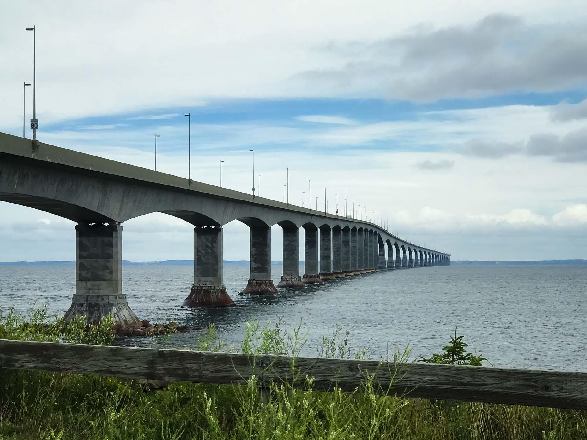 confederation bridge from New Brunswick to PEI