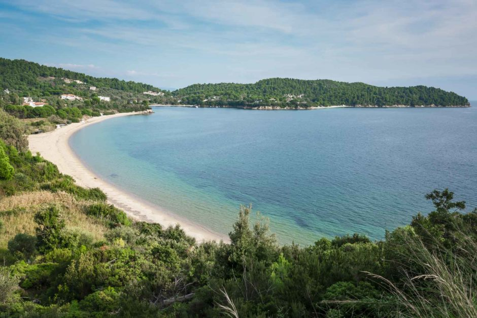 famous skiathos beach greece