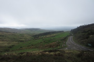 Looking back down toward the coast in the South West of County Cork, Ireland.
