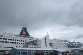 Safely docked at Seyðisfjörður.