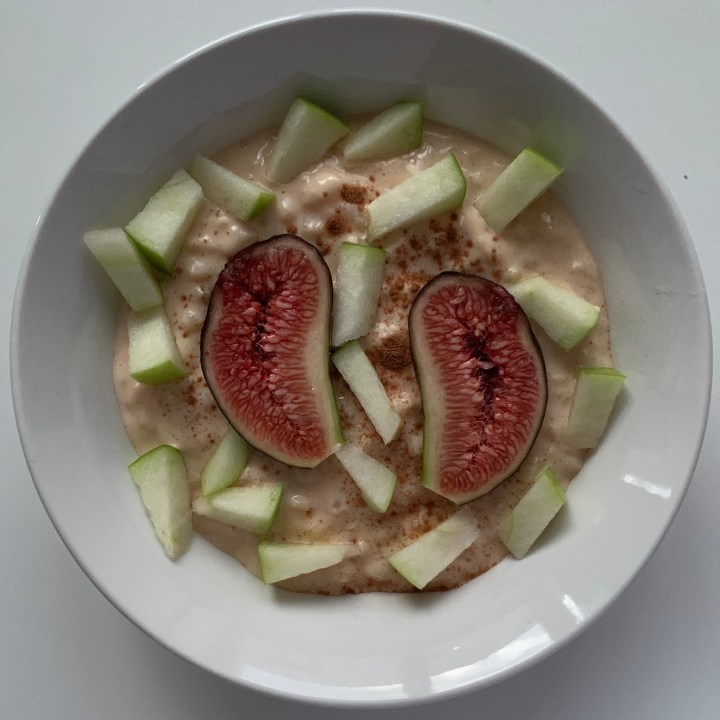 Cinnamon Rice Pudding with Apples and Figs