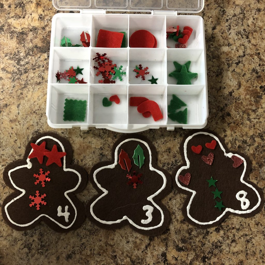 Gingerbread Man Preschool Counting Activity