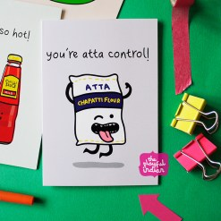 atta control funny indian birthday card