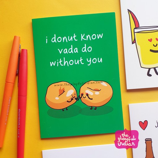 donut vada asian greeting card