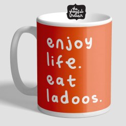 enjoy life eat ladoos mug