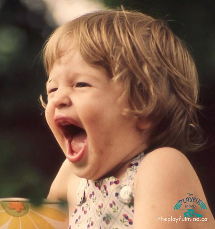 big sis laughing